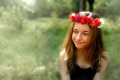 Ozdoby do vlasov - Letné snenie - venček - 5705848_