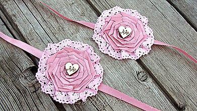 Náramky - Ružový kvet v čipke - 5710213_