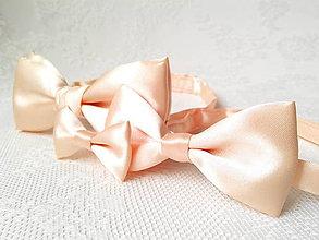 Odznaky/Brošne - Wedding set (light peach) - 5710785_