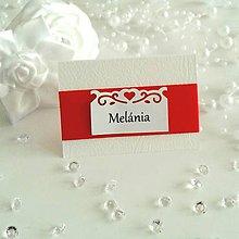 Papiernictvo - Svadobné menovky červené - 5709585_
