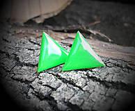 Trojuholníky 20 mm (zelené)
