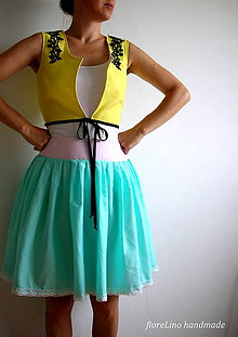 Sukne - skladaná sukňa - Letný vánok - 5707757_