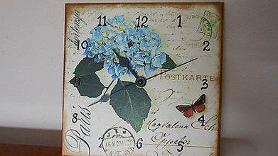 Hodiny - hodiny hortenzia - 5708415_