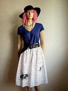 Sukne - Pestrofarebne bodkovaná suknička s muchami - 5709607_