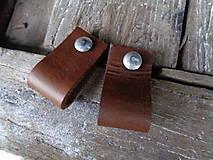 Nábytok - Kožené úchytky na nábytok 2,5cm (11x2,5cm) - 5710301_