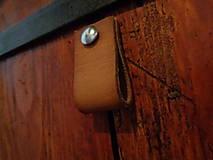 Nábytok - Kožené úchytky na nábytok 2,5cm (11x2,5cm) - 5710312_