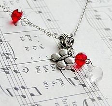 Náhrdelníky - Red Butterfly - 5711477_