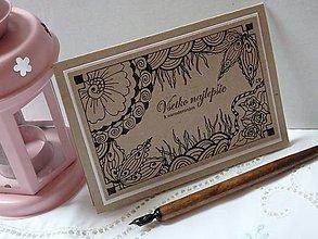 Papiernictvo - Pohľadnica k narodeninám *** - originál perokresba - 5712989_