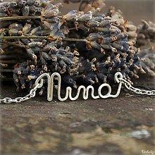 Náhrdelníky - Náhrdelník s menom z postriebreného drôtu - do 5 písmen (Nina) - 5711909_