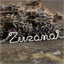 Náhrdelníky - Náhrdelník s menom z postriebreného drôtu: 6-8 písmen (Zuzana) - 5711910_
