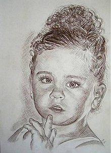 Kresby - Bambuľka :-) - portrét A3 - 5712365_