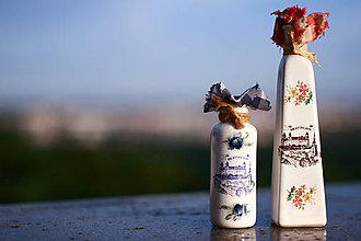 Nádoby - Keramické fľašky - dekorácia, suvenír - 5713470_