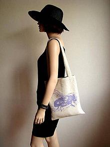 Nákupné tašky - Taška s fialkastou muchou -30% - 5712477_