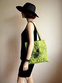 Nákupné tašky - Trávová taštička s bystruškou - 5712582_
