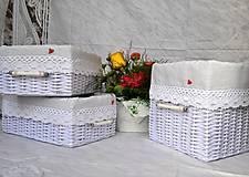 Košíky - Pletený set BELLA - 5713386_