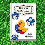 Papiernictvo - Veľkonočná pohľadnica - FIMO kuriatko s vajíčkom - 5711432_
