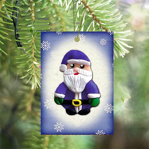 Vianočná karta (vločková - Santa)