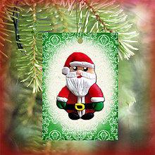 Dekorácie - Vianočná karta (ornamentová - Santa) - 5712686_