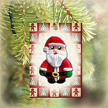 Dekorácie - Vianočná karta (obrázková - Santa) - 5713709_