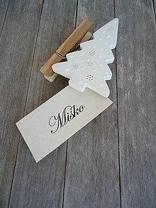 Dekorácie - Štipec vianočný - 5714626_