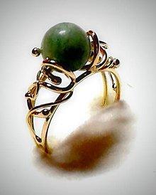 Prstene - Amazonitový zlatý prsteň - 5717058_