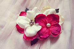 Náramky - Romantický červeno-biely náramok pre družičky - 5716659_