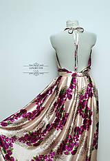 šaty + motýlik FLOWER PINK