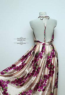 Šaty - šaty + motýlik FLOWER PINK - 5714906_