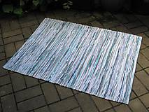 Úžitkový textil - koberec tkaný cca 80 x 150 tyrkysový melír - 5717027_