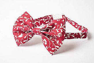 Doplnky - Motýlik bordový ornament !AKCIA! - 5715362_