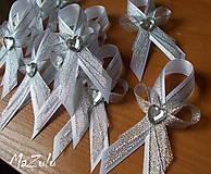 Pierka - svadobné pierko v striebre - 5716508_