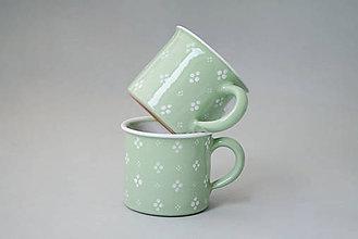 Nádoby - Kafáč 8 cm 4 puntík - světle zelený, cca 0,3 l - 5714697_