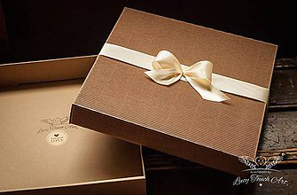 Krabičky - Darčekové balenie 30x30 by LTA® - 5715560_