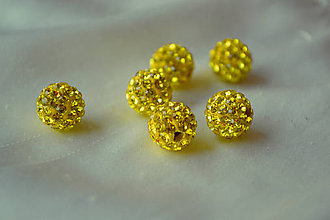 Korálky - Shamballa korálka CZ kryštál žltá, 8mm, 0.40€/ks - 5714961_