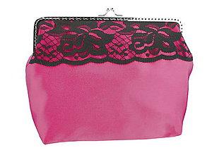 Kabelky - Kabelka růžová s čipkou a retiazkou na rameno 08253A 1 - 5721955_