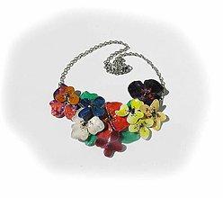 Náhrdelníky - lel flowers 16 -kvetinový náhrdelník - 5718041_
