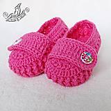 Topánočky - Papučky ružové - 5718378_