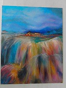 Obrazy - vodopád farieb - 5719381_