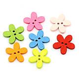 - Drevené gombíčky kvetinky (balíček 50ks) - 5718910_