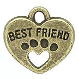 - Prívesok BEST FRIEND - 5719098_
