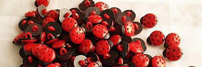 Galantéria - Plastové gombíky lienočky - 5719077_