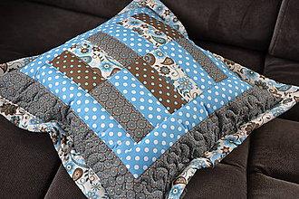 Textil - Veľký tyrkysovo hnedý - 5718967_