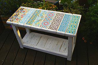 Nábytok - Dekorovaná lavička - 5718087_