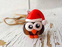vianočná sovička - prívesok