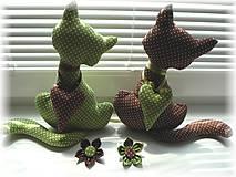 Dekorácie - Zeleno- hnedá mačička - 5723353_