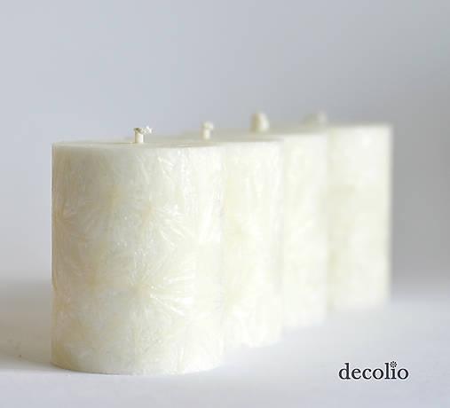 Svietidlá a sviečky - Adventné sviečky 6 cm - biele smotanové - 5723853_