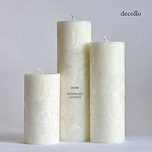 Svietidlá a sviečky - Sada sviečok Ivory Ø55 - 5724126_