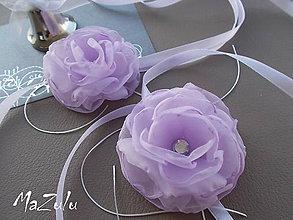 Dekorácie - svadobná ozdoba na poháre - 5722782_