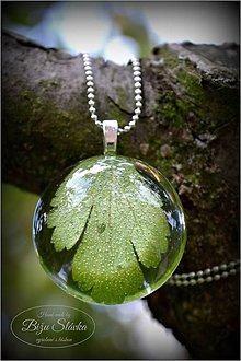 Náhrdelníky - Náhrdelník Zelený lístok (1802 A) - 5722870_