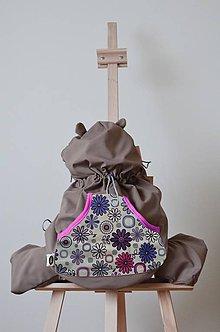 Detské doplnky - Ochranná termo kapsa - fialové kvetinky - 5723298_